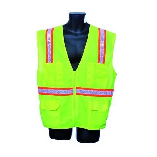 Case of [10] Green Surveyor Vest- Mesh Back 4XL