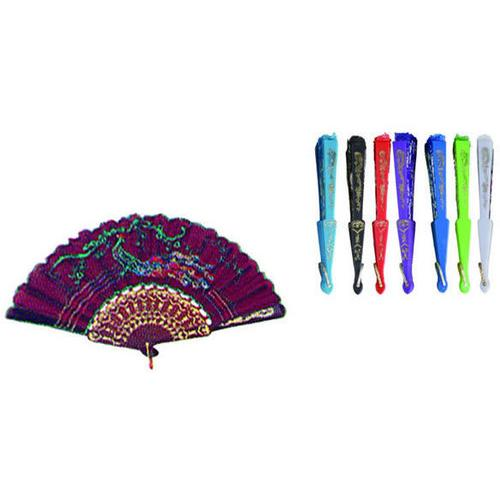 Case of [144] Chinese Fans- Assorted Colors and Designs