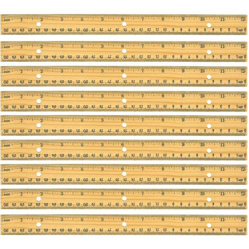 "Case of [48] Home Office 12"" Wood Ruler"