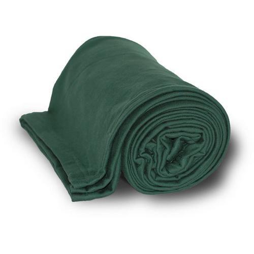 "Case of [24] Deluxe Heavyweight Sweatshirt Blanket 50"" x 60"" - Forest"