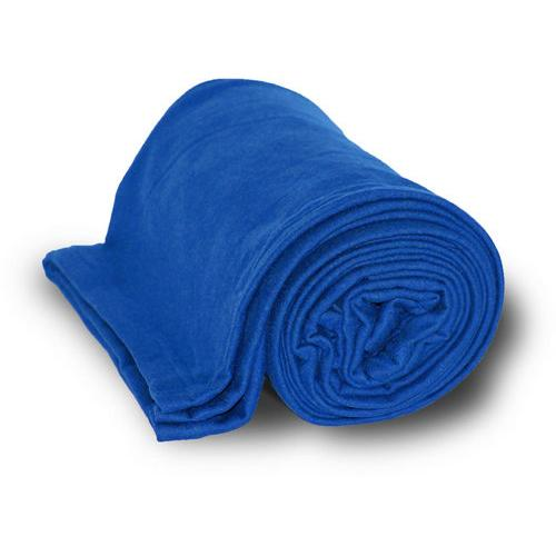 "Case of [24] Deluxe Heavyweight Sweatshirt Blanket 50"" x 60"" - Royal"