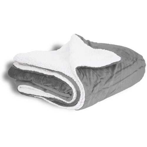 50x60 Micro Mink Sherpa Blanket - Gray
