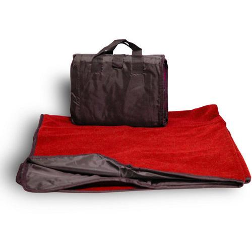 "Case of [24] Waterproof Outdoor Picnic Blankets 50"" x 60"" - Red"