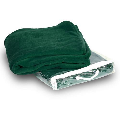 Case of [24] Micro-Plush Fleece Blanket - Forest Green