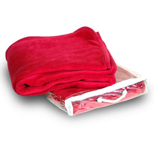 Case of [24] Micro-Plush Fleece Blanket - Red