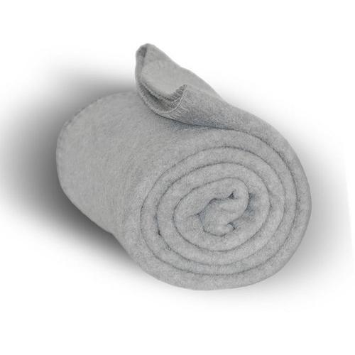 "Case of [24] Premium Fleece Blanket 50"" x 60"" - Heather Gray"