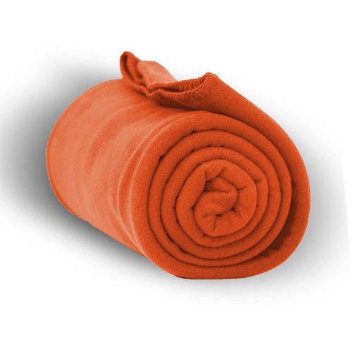"Case of [24] Premium Fleece Blanket 50"" x 60"" - Orange"