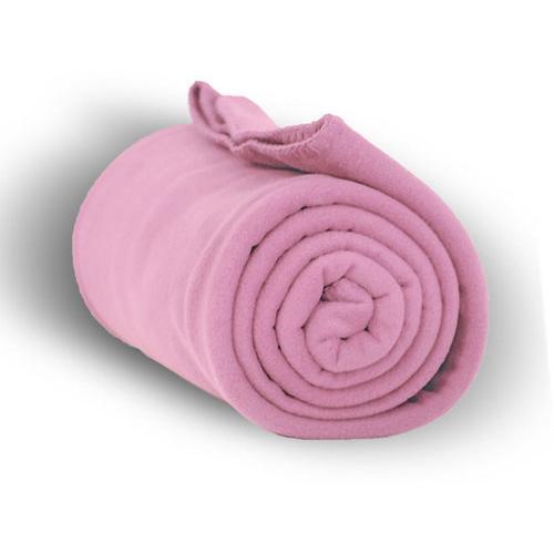 """Case of [24] Premium Fleece Blanket 50"""" x 60"""" - Pink"""