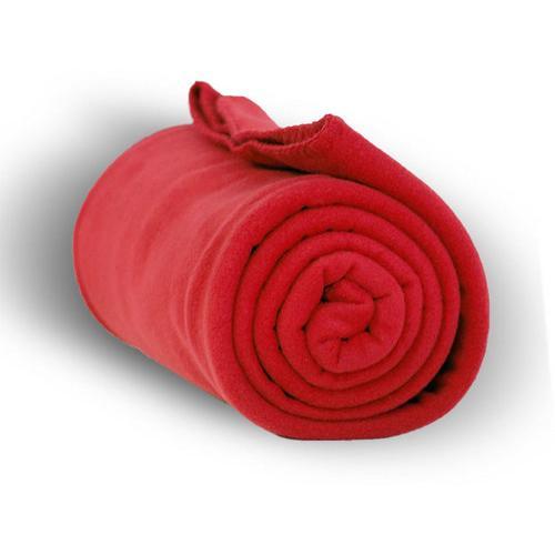 """Case of [24] Premium Fleece Blanket 50"""" x 60"""" - Red"""