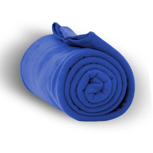 "Case of [24] Premium Fleece Blanket 50"" x 60"" - Royal Blue"