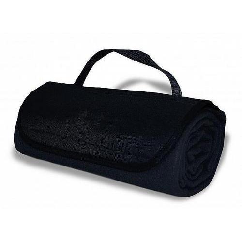 "Case of [36] Roll Up Blanket 47"" x 53"" - Black"