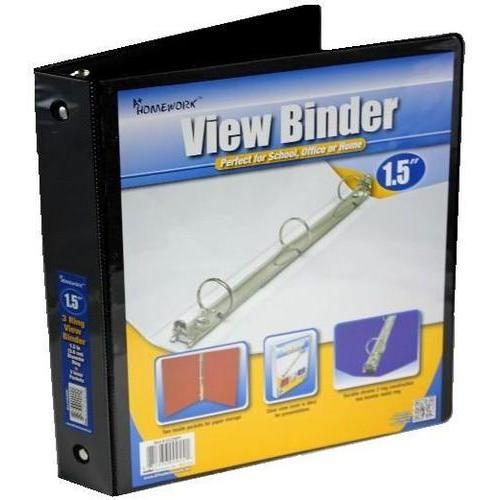 """Case of [12] 1.5"""" Clear View Binder with Two Inside Pockets"""