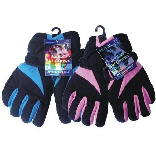 Case of [144] Juniors' Insulated Ski Gloves