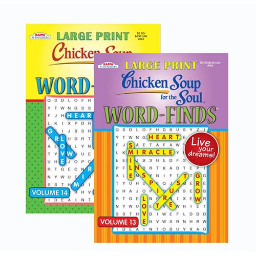 Case of [48] KAPPA Large Print Chicken Soup For The Soul Word Finds Puzzle Book