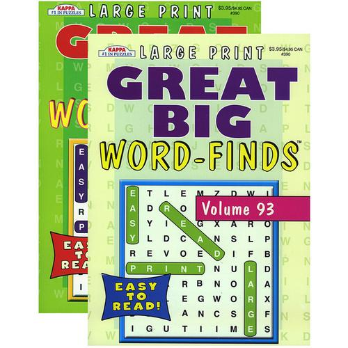 Case of [48] KAPPA Large Print Great Big Word Finds Puzzle Book