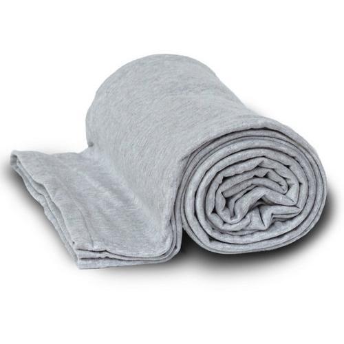 Case of [24] Deluxe Heavyweight Sweatshirt Blanket - Heather Gray