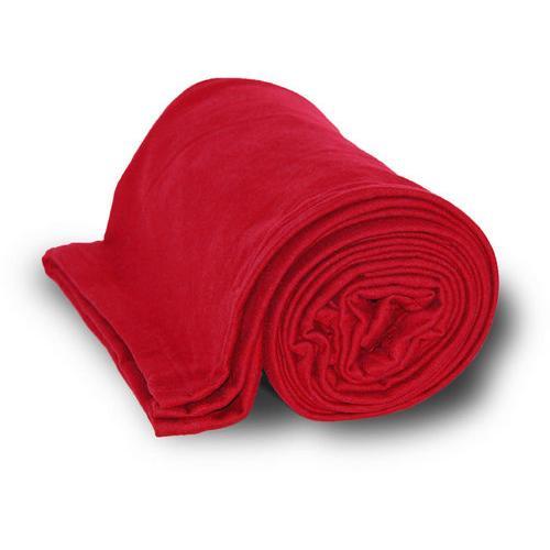 Case of [24] Deluxe Heavyweight Sweatshirt Blanket - Red