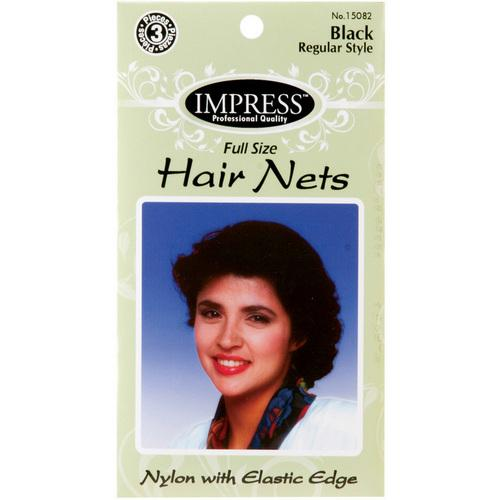 Case of [144] Impress Black Hair Nets - 3 Piece