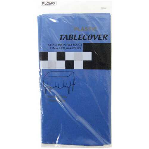 "Case of [36] BLUE RECTANGULAR TABLE COVER Table Cover Size 54"" x 108"""