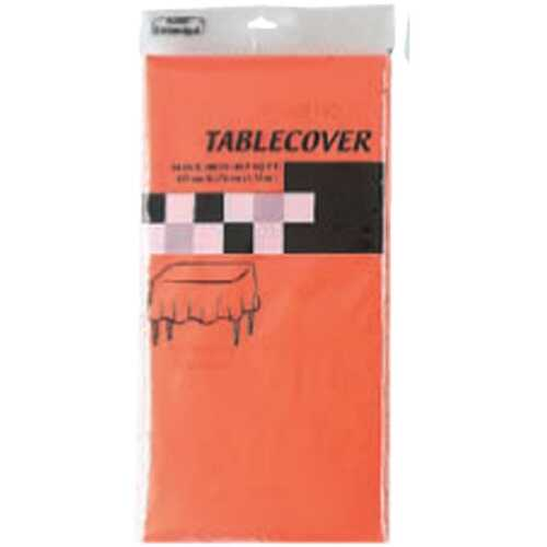 "Case of [36] ORANGE RECTANGULAR TABLE COVER Table Cover Size 54"" x 108"""