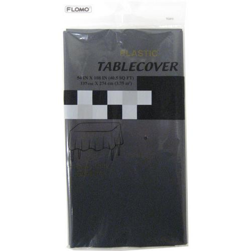 "Case of [36] BLACK RECTANGULAR TABLE COVER Table Cover Size 54"" x 108"""