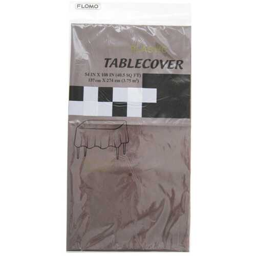 "Case of [36] CHOCOLATE RECTANGULAR TABLE COVER Table Cover Size 54"" x 108"""