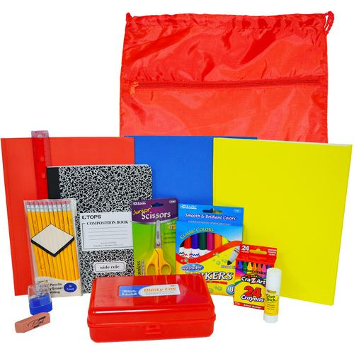 Case of [12] Elementary Kit (1st-5th) w/Drawstring Backpack