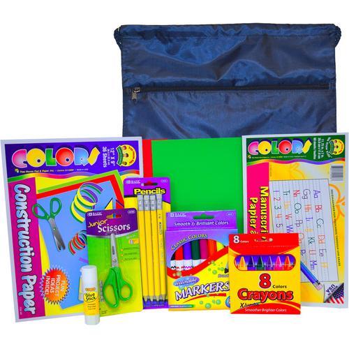 Case of [12] Pre-K / Kindergarten Kit w/ Drawstring Backpack