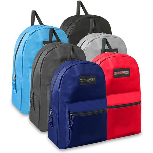 "Case of [24] 19"" Basic Backpack - 6 Colors"