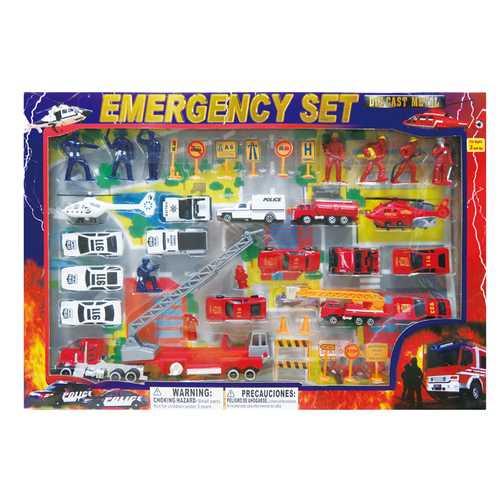 Case of [12] Diecast Emergency Set (46 Piece Set)