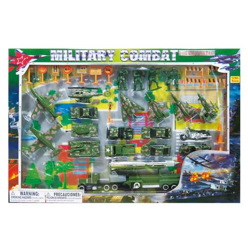 Case of [12] Diecast Military Set (44-Piece Set)