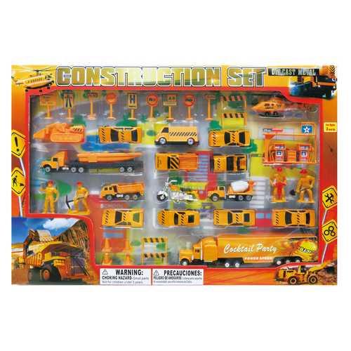 Case of [12] Diecast Construction Set (42 Piece Set)