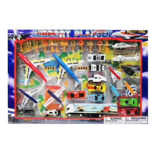 Case of [12] Diecast Airport Set (42 Piece Set)