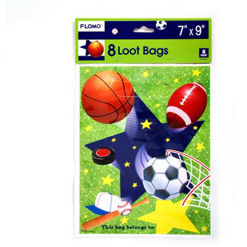 All Star Sports Loot Bags (8 count)