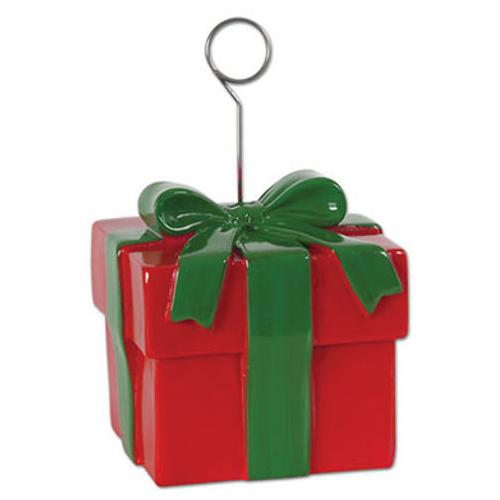 Case of [12] Christmas Gift Box Photo/Balloon Holder