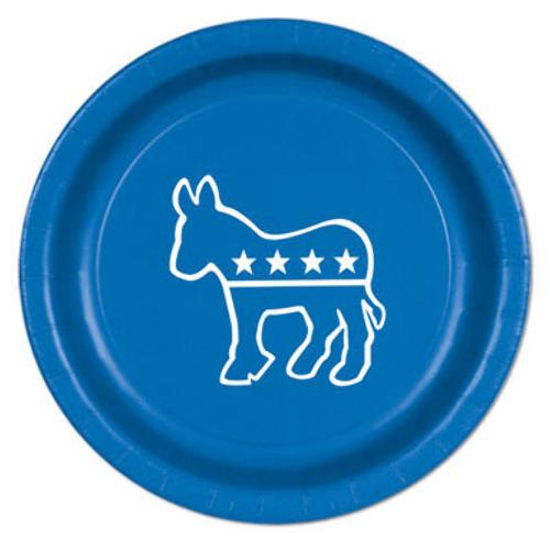 Case of [12] Democratic Plates - Blue