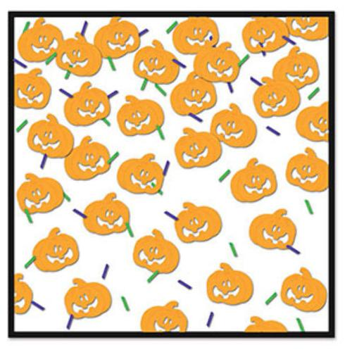 Case of [12] Pumpkin Face Confetti