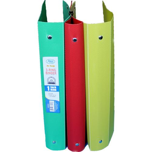 Case of [60] 1 Inch 3 Ring Binder in Assorted Colors