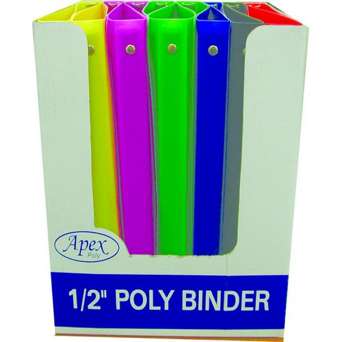 Case of [48] 3 Ring Poly Binder - .5 Inch