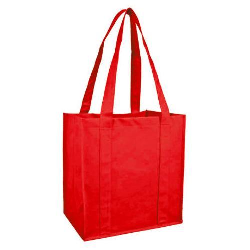 Case of [100] Reusable Shopping Bag - Red