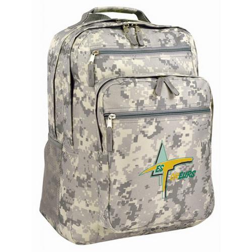 "Case of [12] 16"" Premium Multi-Pocket Backpack - Camo"