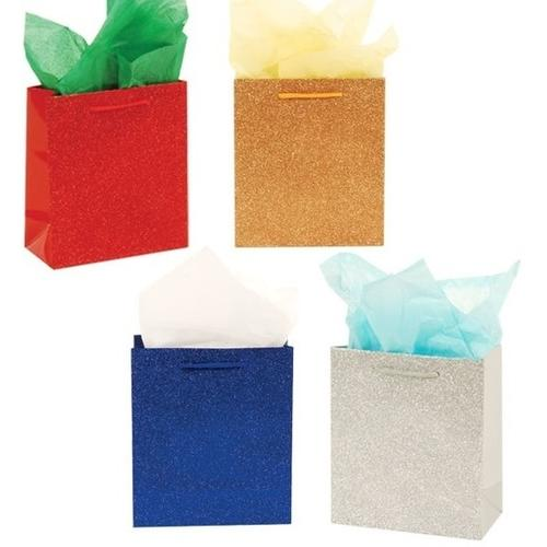 """Case of [120] Premium Glitter """"Glamour"""" Glossy Gift Bags [Large]"""