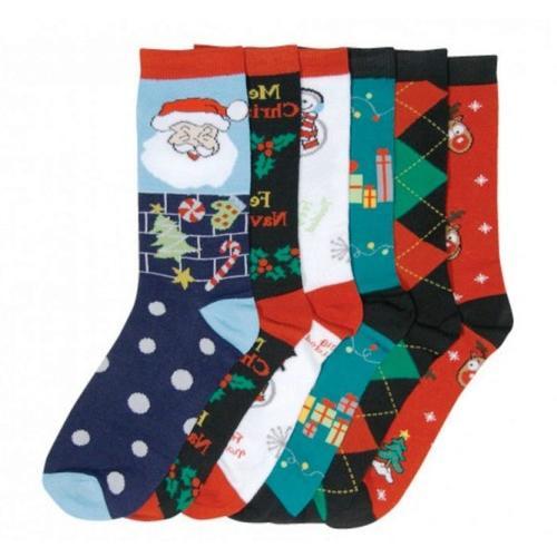 Case of [120] Women's Christmas Crew Socks - Size 9-11