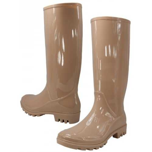 Case of [12] Women's Rain Boots Nude (Size 6-11)