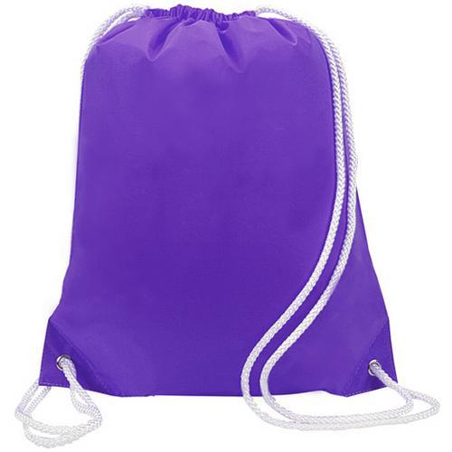 "Case of [48] 14"" Basic Purple Drawstring Backpack"