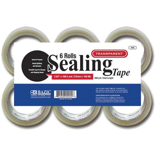 Case of [24] BAZIC Clear Packing Tape