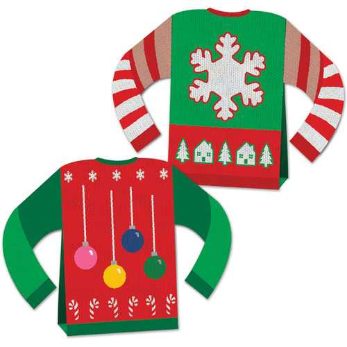 Case of [12] 3-D Ugly Sweater Centerpiece