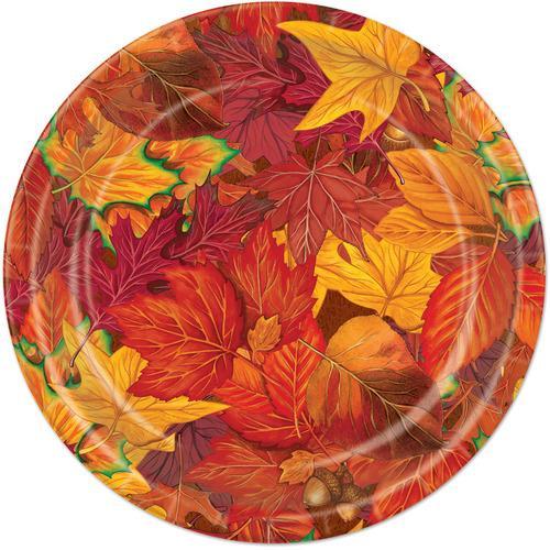 Case of [24] Fall Leaf Plates #90809