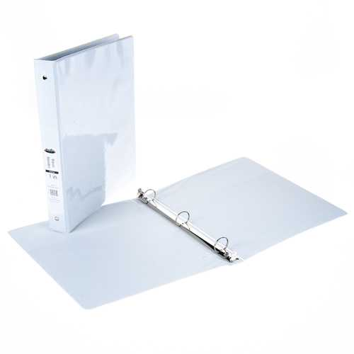 """Case of [12] 1"""" View Binder with Inner Pockets - White"""