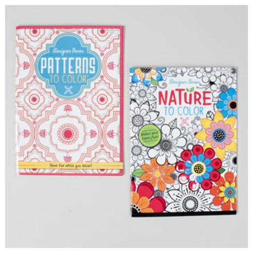 Adult Coloring Book - Nature and Patterns